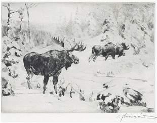 Friends Again By Carl Rungius (1869-1959)
