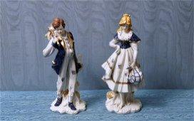 COPPIA DI SCULTURE in porcellana