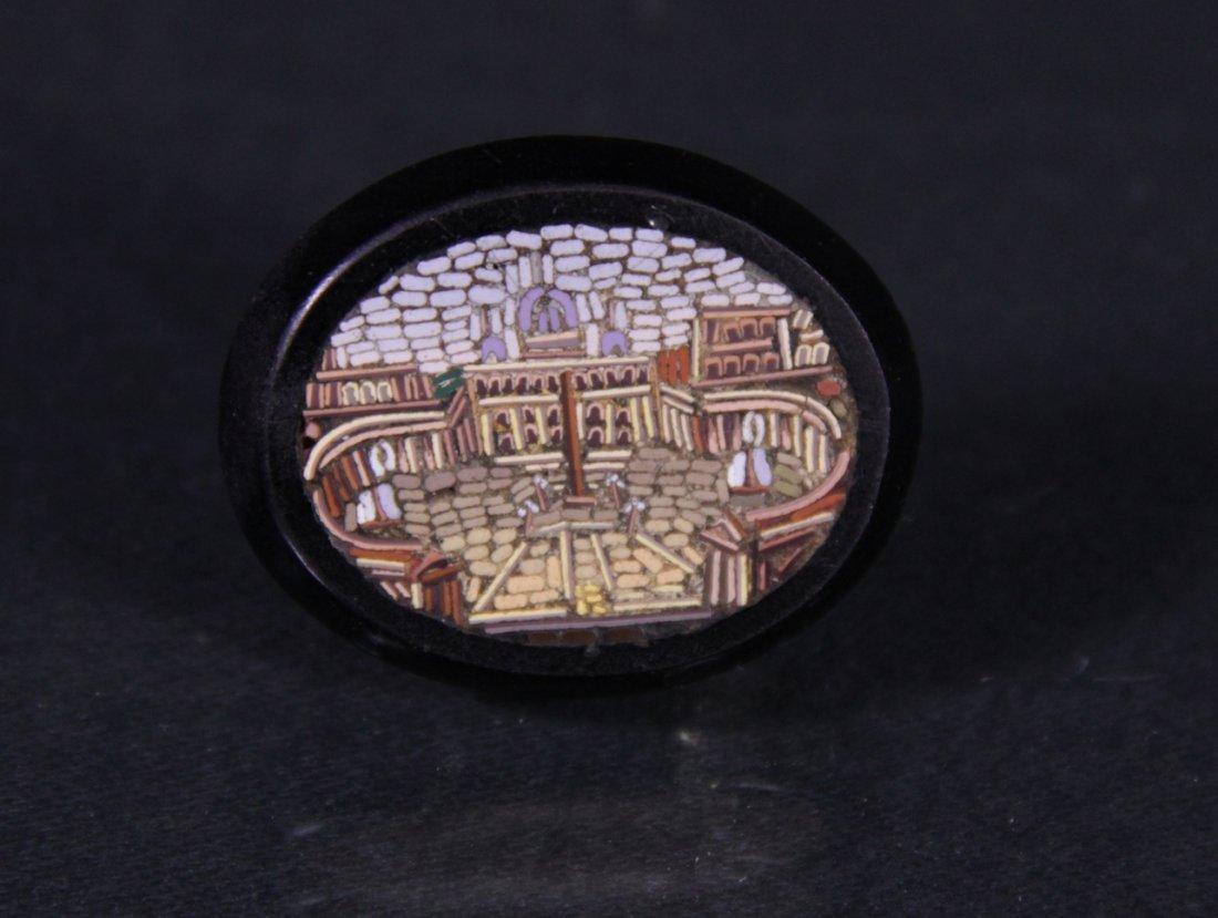 Micro mosaic brooch.- Spilla in micromosaico