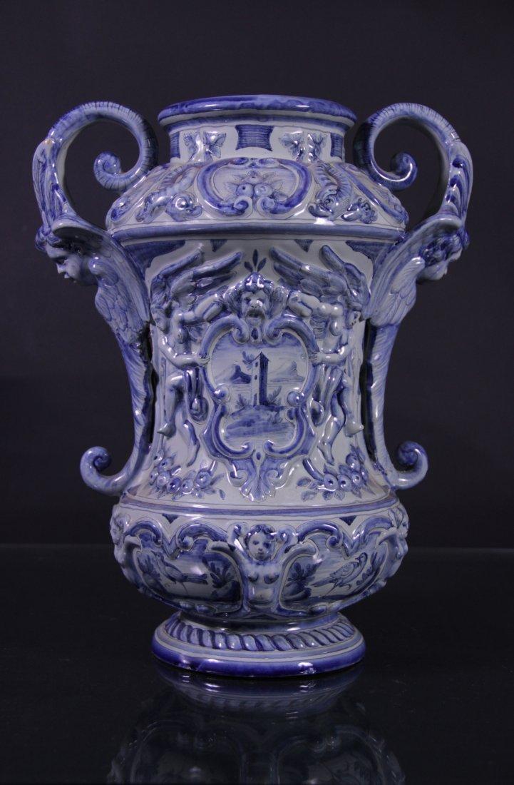 Majolica vase- Vaso in maiolica