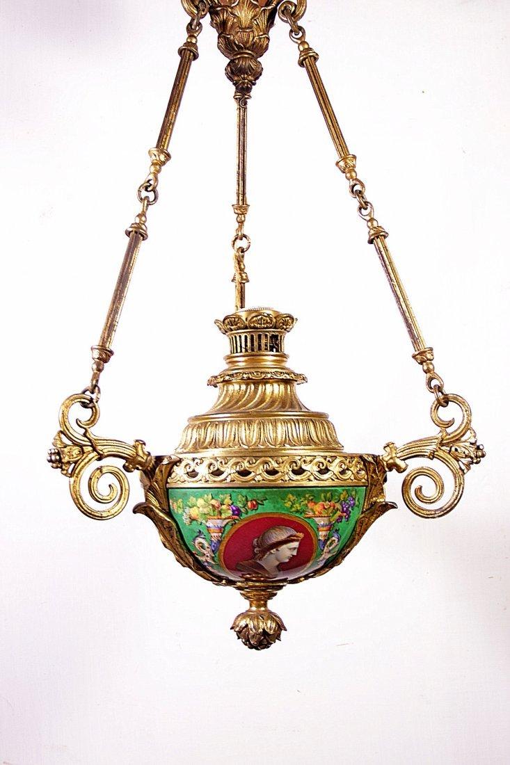 A bronze and porcelain lamp- Lampada in bronzo e porcel