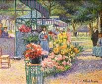 LES PETITES FLEURISTES DE VERSAILLES by Pissarro