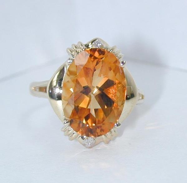 5: 12 CT DIAMOND AND HONEY CITRINE
