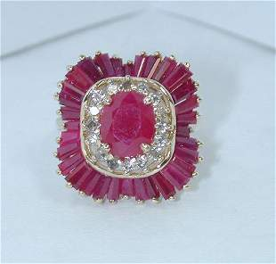 5 CT DIA AND RUBY 14K 8.3GR