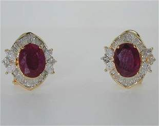 6 CT DIA AND RUBY 14K 7.1GR