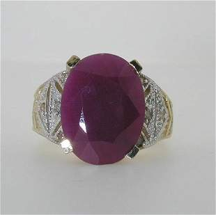 12 CT RUBY AND DIA 14K 9 GR