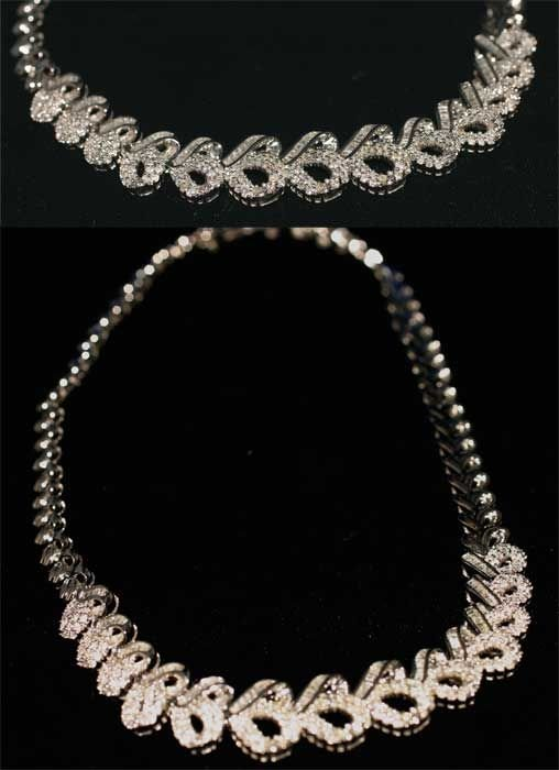 3004: 6CT DIA NECKLACE IN 52GR 18K