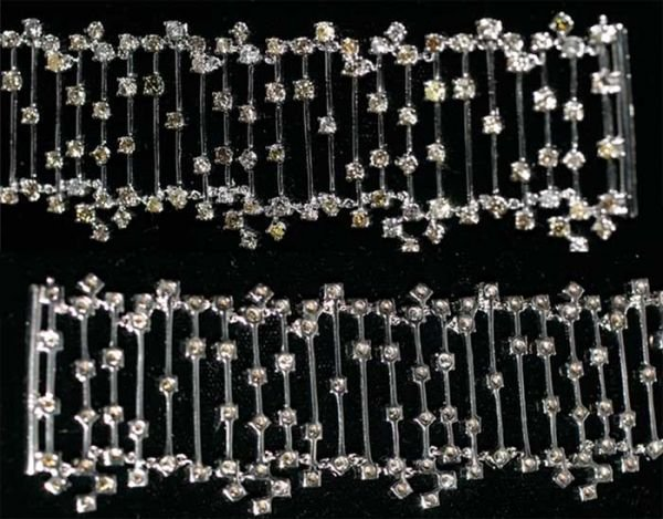 3010: 14CT FANCY DIA 51GR 18K GOLD Size: 7 INCHES