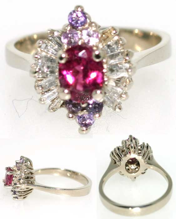 4008: 2 CT DIA AND PINK SAPP 14K 4.2GR