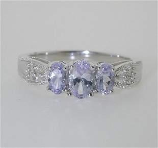 1 CT DIAMOND AND TANZANITE RING