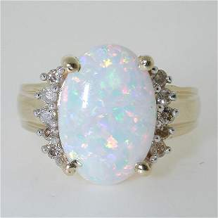 6 CT OPAL AND DIA 14K 6.5 GR