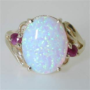5 CT OPAL AND DIA 14K 3.5 GR