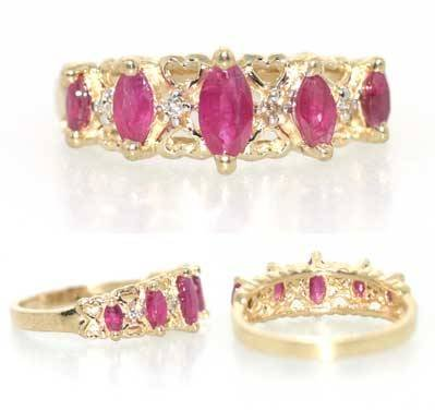 3121: 2 CT RUBY AND DIA 14K 2.5 GR