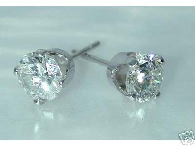 5001: 2.05 CT H-SI2 DIAMOND STUD EARRINGS