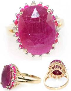 11 CT RUBY DIA AND PINK SAPP 14K 7.5GR