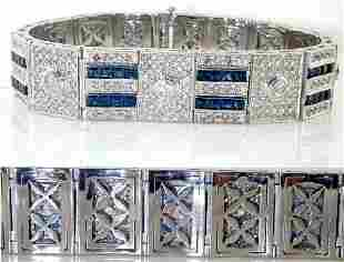 22 CT DIAMOND AND SAPPHIRE 18K 76.4 Gr