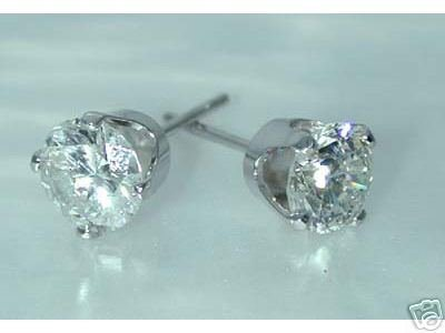 1546: 1.5 CT DIA STUD G-SI1 ENHANCED EARRINGS
