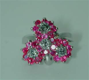 3 CT DIA AND RUBY 14K 7GR