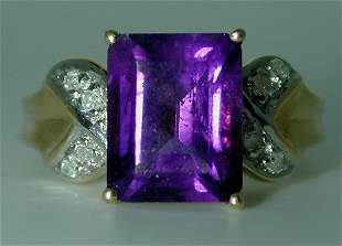 5 CT DIA AND AMETHYST