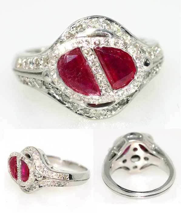 4023: 3.5 CT RUBY AND DIA 14K 8GR