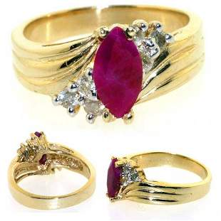 2 CT DIA AND RUBY 14K 7GR