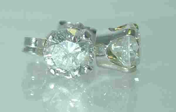 1.60 CT J-SI3 DIAMOND STUD EARRINGS