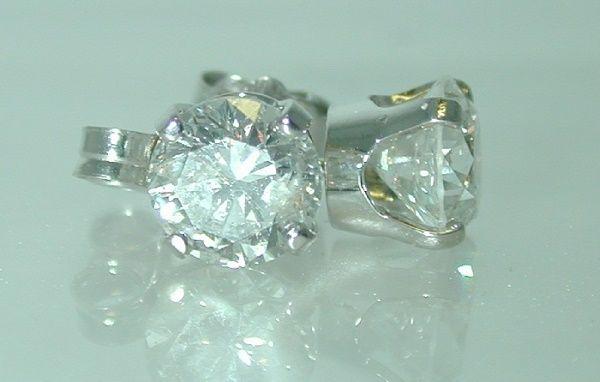 4435: 1.42 CT J-SI3 DIAMOND STUD EARRINGS