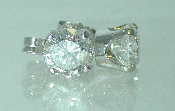3300: 1.90 CT J-SI2 DIAMOND STUD EARRINGS