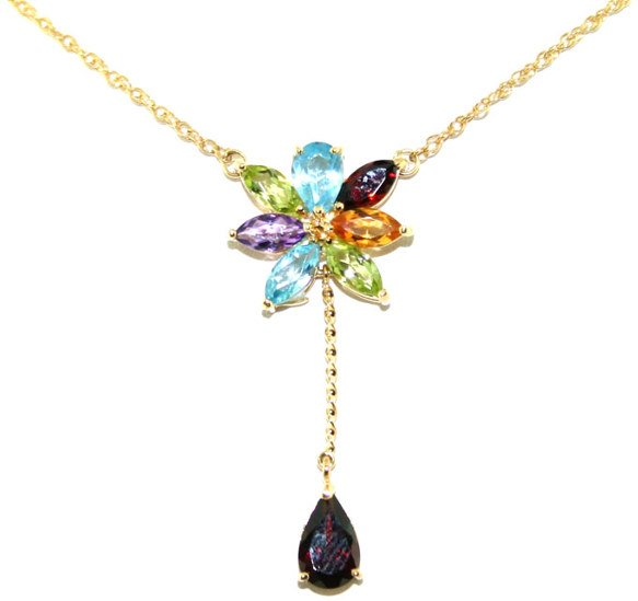 1002: 3 CT MULTI COLOR GEM 14K