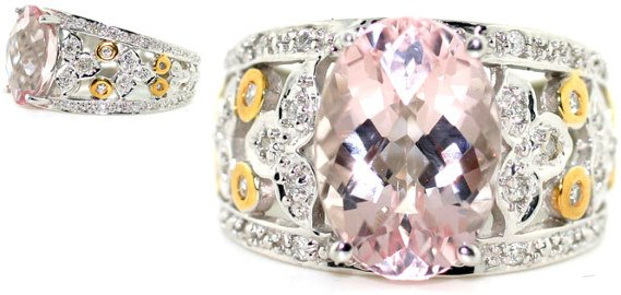 1019: 8 CT DIA AND KUNZITE 14K