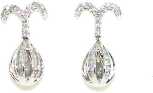 1020: 1 CT DIAMOND EARRINGS 14K
