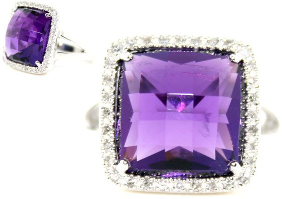 3001: 20 CT DIA AND AMETHYST 14K