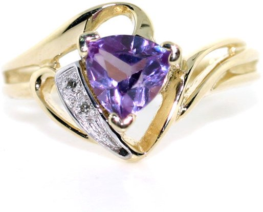 3015: 1 CT DIA AND AMETHYST