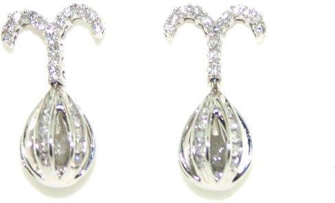 3020: 1 CT DIAMOND EARRINGS 14K