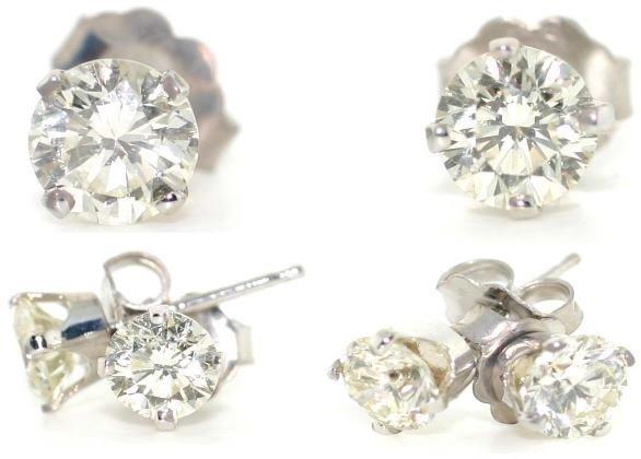 3504: 2.15 CT SI3 DIAMOND STUD EARRINGS