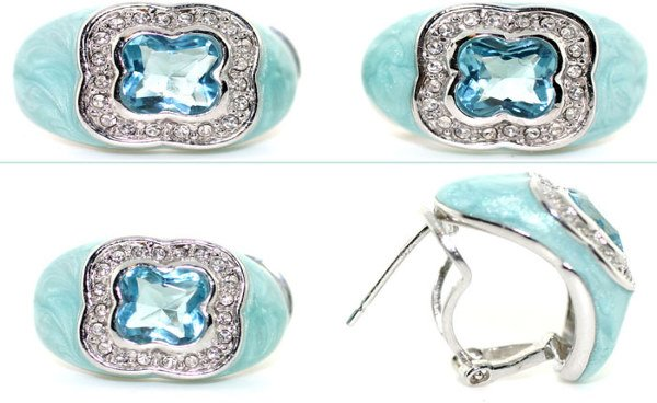 4010: LAB WHITE SAPP AND BLUE TOPAZ SILV