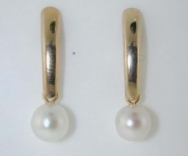 4023: BEAUTIFUL GOLD PEARL EARRINGS