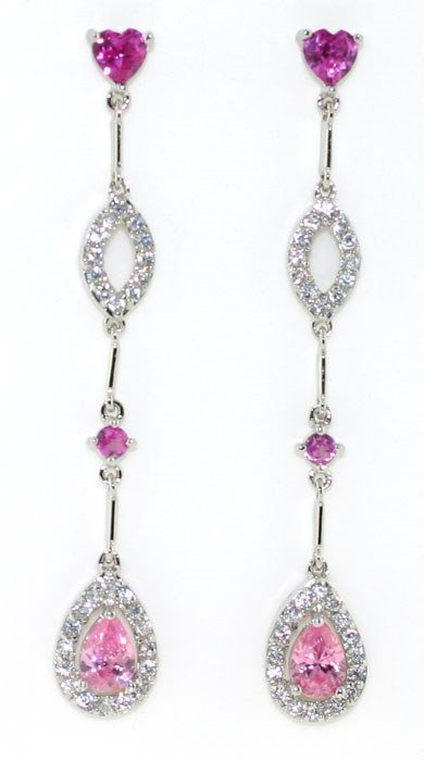 1015: 5 CT LAB WHITE AND PINK SAPP SILV