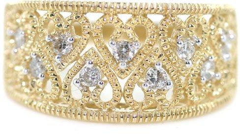 1020: 14K GOLD DIAMOND RING