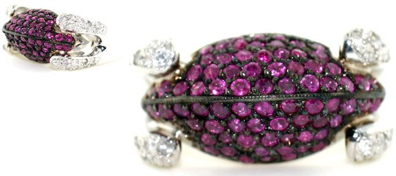 1473: 3 CT DIA AND PINK SAPP 14K 19 GR