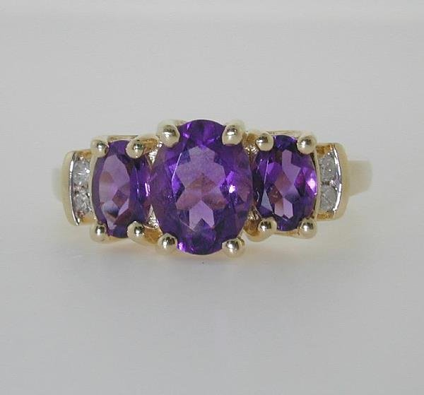 3014: 2 CT DI. AND AMETHYST 3.5GR