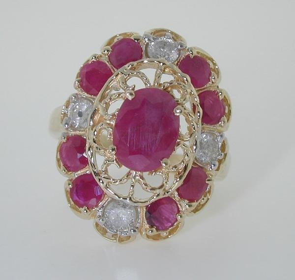 3022: 4.5 CT DIA AND RUBY 14K 7.3GR