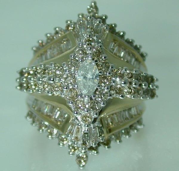 5641: 4.5 CT DIAMOND 13 GR GOLD RING