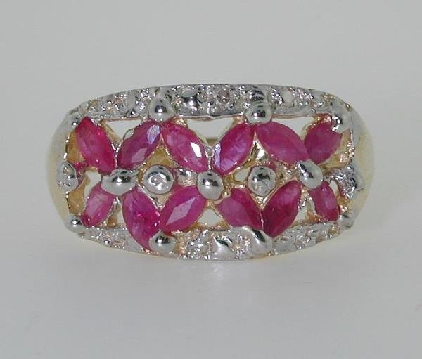 1001: 2.5 CT DIA AND RUBY 14K 3GR