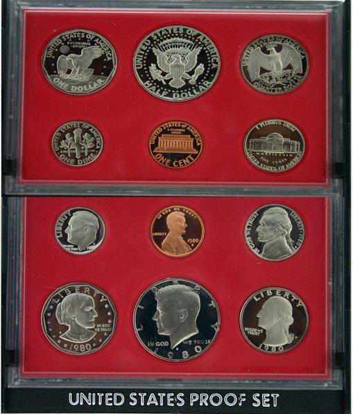 1004: 1980 U.S. Mint Proof Set