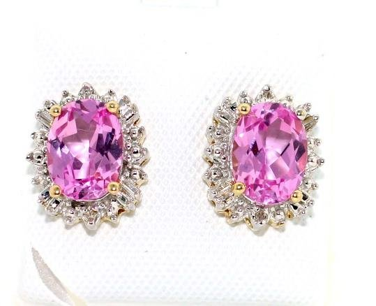 1013: 6 CT DIA AND PINK TOPAZ