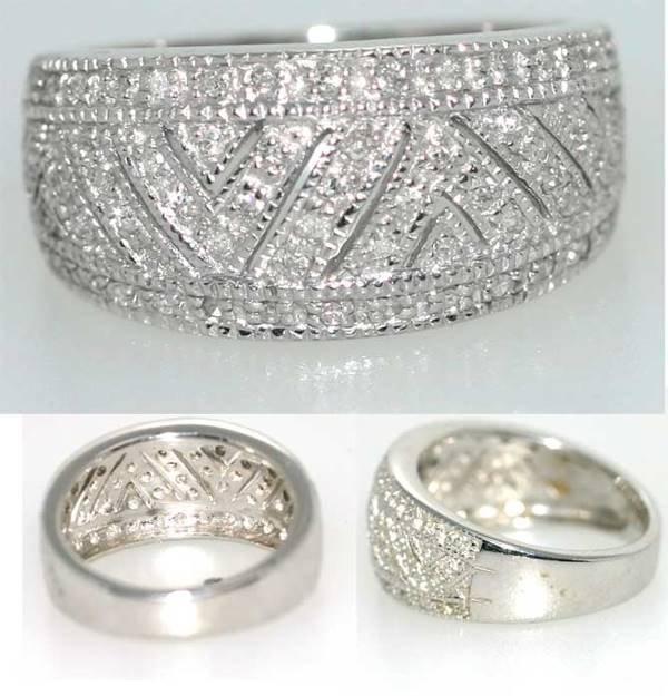 1020: 0.5 CT DIAMOND RING SILVER 7GR