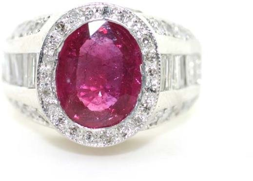 1295: 6 CT DIA AND RUBY 18K