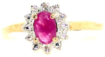 2005: 1 CT DIA AND RUBY 14K