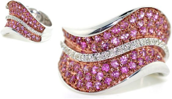 2012: 4 CT DIA AND PINK SAPP 14K 10 GR